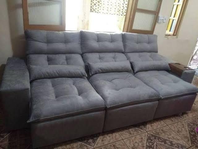 Sofá retrátil e reclinável com pillow - 2.75cm de ...
