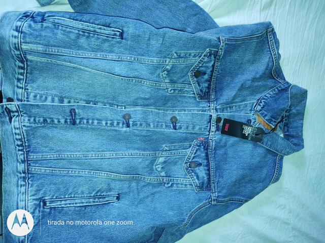 Jaqueta e Macacão Jeans Levi's Masculino Original - Foto 3