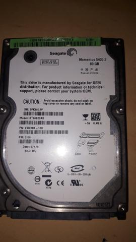 Hard disk western digital, Fujtitsu e Seagate 80gb - Foto 2