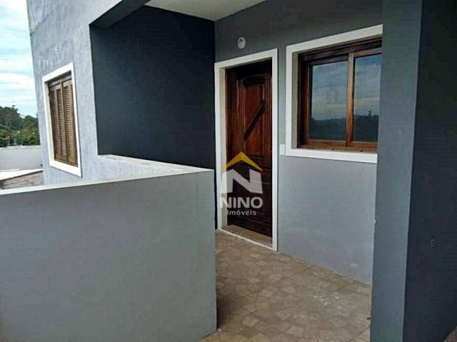 Apartamento com 2 dormitórios para alugar, 53 m² por r$ 1.000,00/mês - são vicente - grava - Foto 9