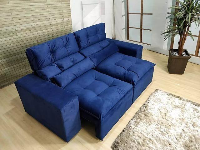 Retrátil e reclinável com pillow - 2.00m de comprimento - Promoção Imperdível - Foto 3