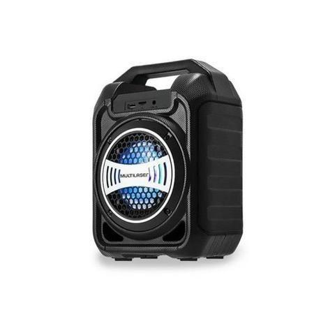 Caixa de Som Bluetooth Sp313 Multilaser 30W Com Efeitos Led Usb Rádio Fm Aux Micro SD - Foto 3