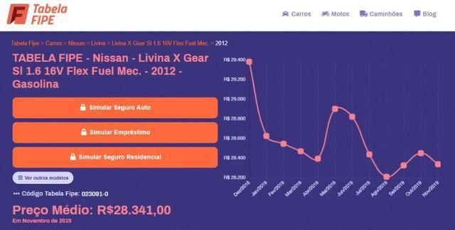 Nissan Livina Xgear 2012 - Manual - R$18.900,00 - Foto 7