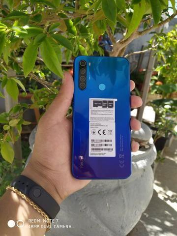 Xiaomi Redmi Note 8 64/4gb Com 6 Meses De Garantia Azul-Preto