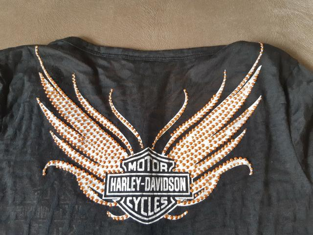 Baby-Look Harley-Davidson preta - original - Foto 4
