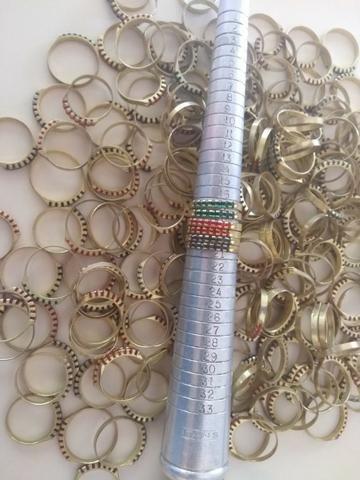Alianças e anéis em Latão, cravados pra banhar - Rio Preto - SP