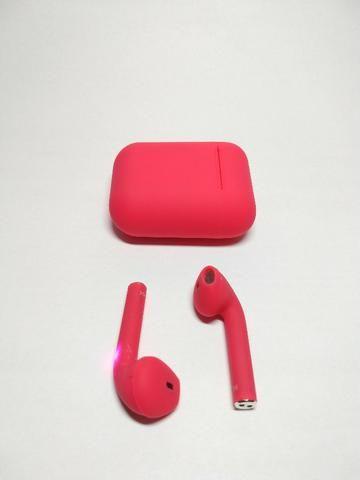 Fone de ouvido Sem Fio Vermelho Bluetooth - Foto 5