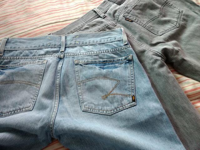 Troco calças originais masculina
