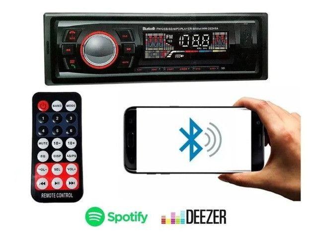 Promoção! Radio Automotivo Com Bluetooth Sd Mp3 Usb 45wx4 Com Viva Voz - R$ 134,99