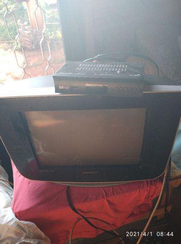 Tv 14 Samsung com conversor controle e antena