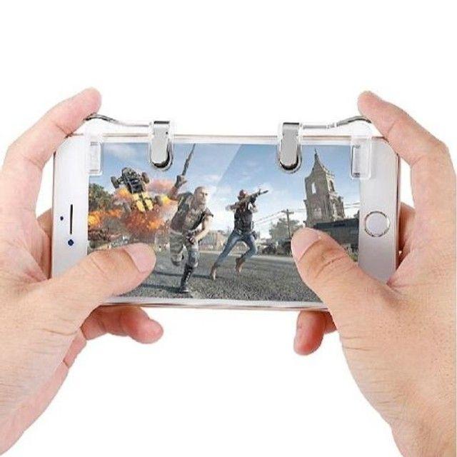 Gatilho L1 + R1 Pubg Celular Mira Jogo Tiro Fps Free Fire FF Pubg Cod mobile Gamepad - Foto 2