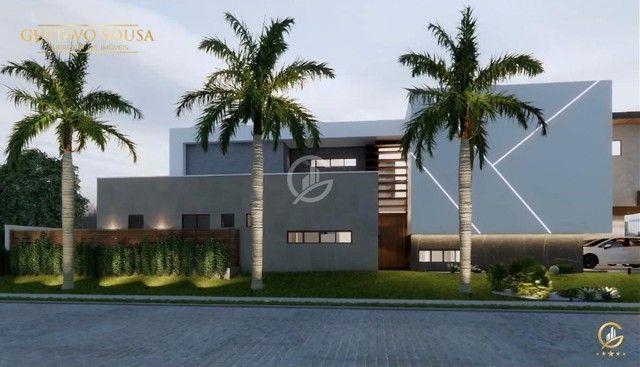 Belíssimo projeto  em um terreno de esquina privilegiado! Condomínio Alphaville Fortaleza - Foto 4