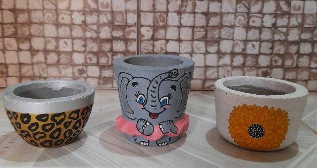 Vasos de cimento. - Foto 4