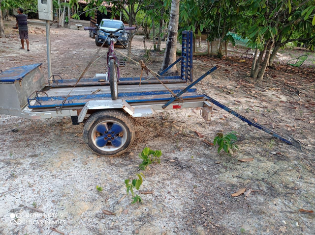 Carrocinha com rampa para quadriciclo ou moto - Foto 2