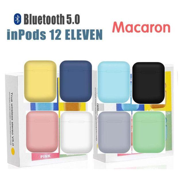 ? ÚLTIMA UNIDADE ?Macaron fones  inPods i12 TWS Bluetooth - Foto 6