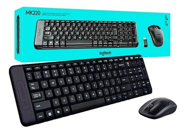 Kit Teclado Mouse Sem Fio Logitech Wireless Mk220 - Loja Natan Abreu  - Foto 4