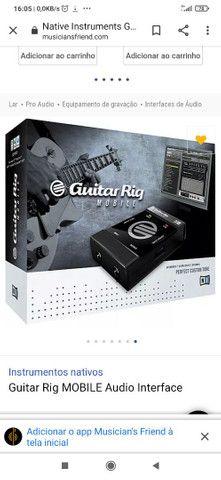 Interface de Áudio Guitar Rig Mobile USB - Foto 3