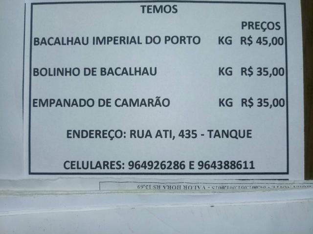 Bacalhau - imperial do porto. bolinho de bacalhau e empanado de camarão - Foto 3