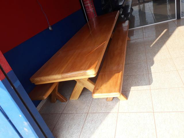 Mesa tipo da madeira garapeira - Foto 5