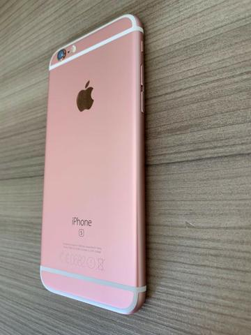Iphone 6s 128Gb Rose Gold em Perfeito Estado Único Dono - Foto 6