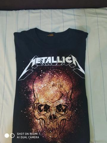 Camisas de rock Motorhead e Metallica 2 por 70$ - Foto 3