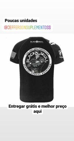 Camisas Black skull ( branca ) ( preta) novas - Foto 3