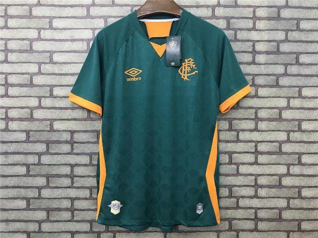 Camisa Fluminense III 20/21 S/n° Torcedor Masculina Verde+Laranja