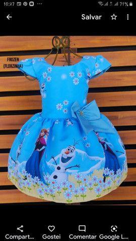 Vestido Frozen.  Vários tamanhos