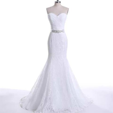 e46965589 Vestido de noiva Sereia Renda Novo Parcelamos12x - Roupas e calçados ...