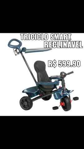 Triciclo smart baby reclinável bandeirantes