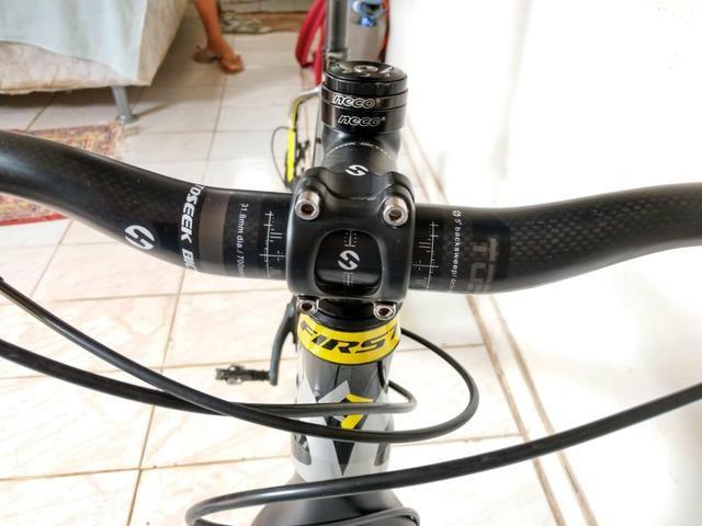 Quadro MTB First + cockpit de carbono - Foto 2