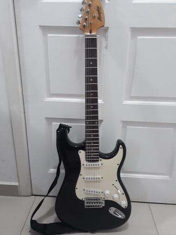 Vendo Guitarra Memphis By Tagima e Caixa de Som Loud Vox - Foto 4