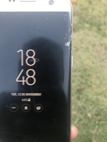 Samsung S7 Edge - tela trincada- Sou de Colatina