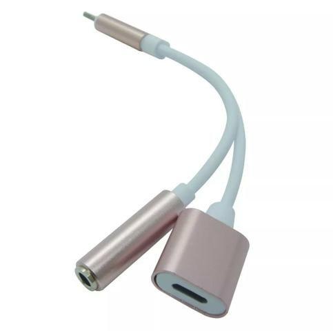 Adaptador de carga e fone para iPhone 5/6/7/8