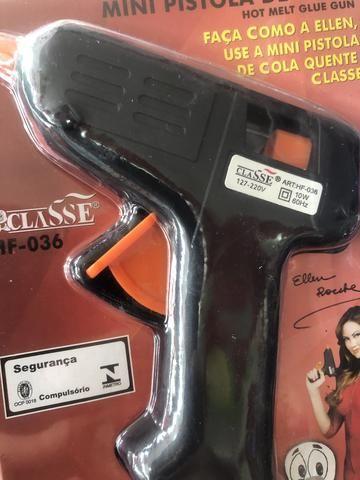 Mini pistola de cola quente somente 10 reais a unidade - Foto 2