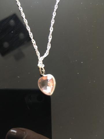 cf8f14433e5ed Pingente coração rosa - Bijouterias, relógios e acessórios - Castelo ...