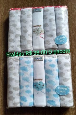 Fraldas pacote com 5 unidades todas bainhadas - Foto 2