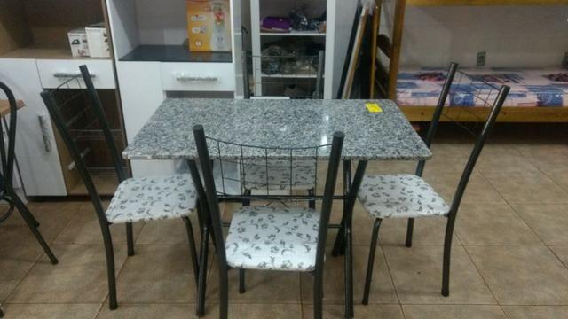 Mesas de pedra ,novas, com 4 cadeiras, promoção, a partir de R$ 249,00 - Foto 4
