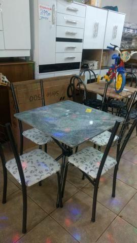 Mesas de pedra ,novas, com 4 cadeiras, promoção, a partir de R$ 249,00 - Foto 2