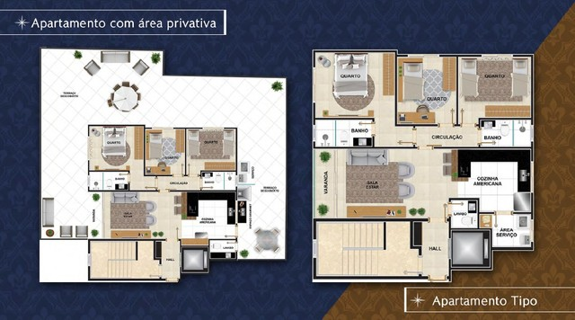 Apartamento à venda com 3 dormitórios em Caiçara, Belo horizonte cod:5880 - Foto 5