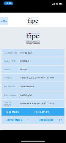 Sentra S 2014 80.000 Km RARIDADE Segundo Dono Manual e Chave Reserva - Foto 8