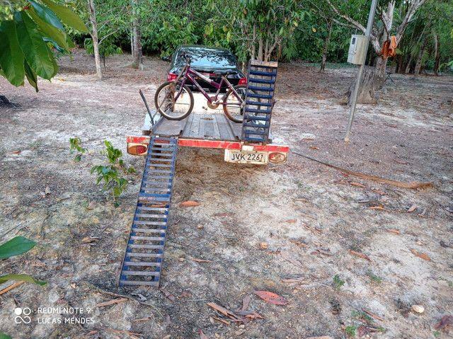 Carrocinha com rampa para quadriciclo ou moto - Foto 3