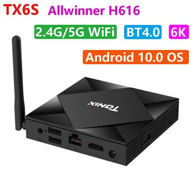 TV Box Tanix Tx6s 4/32 GB wifi 5g Bluetooth  USB 3.0