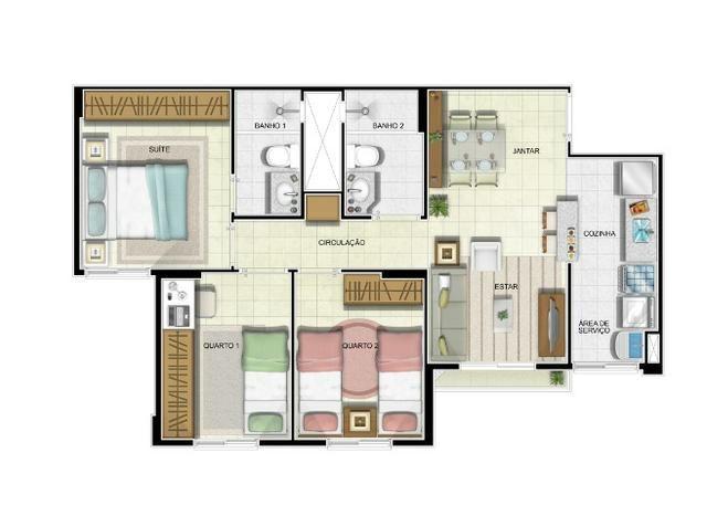 Apartamento Residencial Itamaraty 3 quartos com área de lazer completa