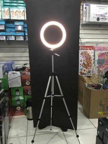 Promoção Ring Light Celular Selfie Led Bivolt Tripe 1.20m Iluminação - Foto 2