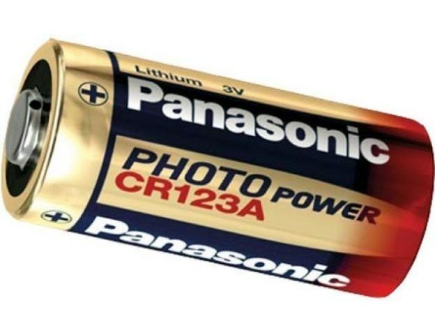 Pilha Panasonic CR 123A - Produto novo e original