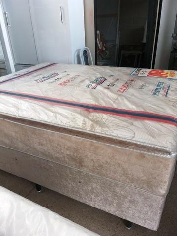 Cama box 158x198 queen size duox confort super confortavel 1999 a vista - Foto 4