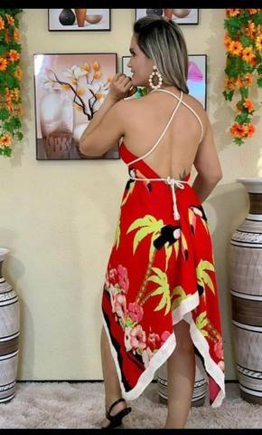 Vestido ponta, colorido, diversas cores - Foto 2