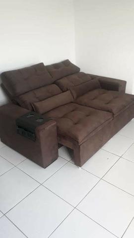 Retrátil e reclinável com pillow - 2.00m de comprimento - Promoção Imperdível - Foto 6