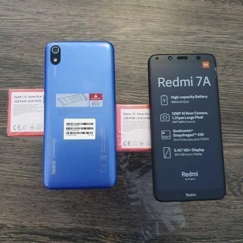 Celular Xiaomi Redmi 7A 16gb 2gb Ram + Película de vidro - Azul - Foto 3